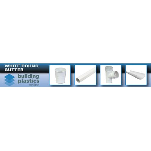 White Round Gutter & Fittings