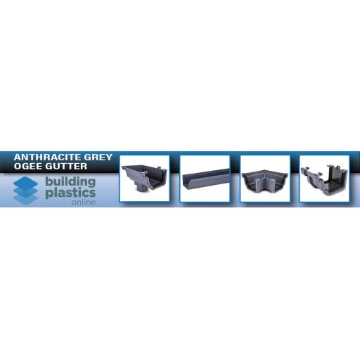 Anthracite Grey Ogee Gutter & Fittings