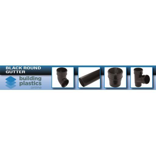 Black Round Gutter & Fittings