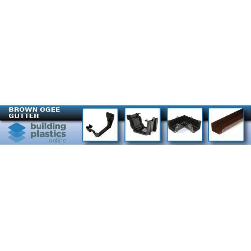Brown Ogee Gutter & Fittings