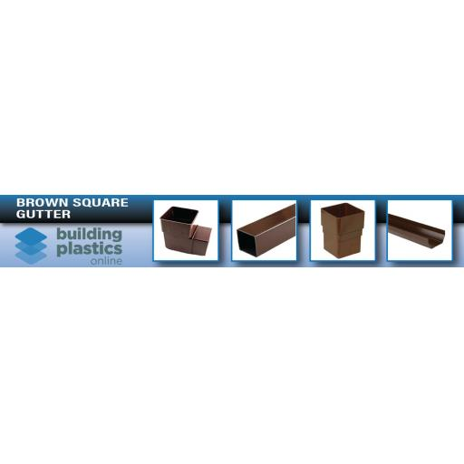 Brown Square Gutter & Fittings