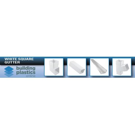 White Square Gutter & Fittings