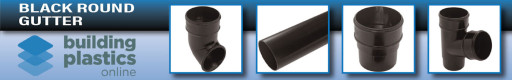 Black Round Gutter & Fittings