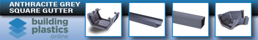 UPVC GUTTERING - ROUND, SQUARE & OGEE > Anthracite Grey Round Gutter & Fittings