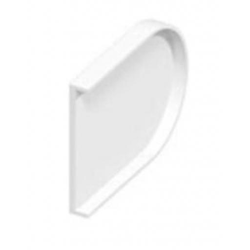 50mm Bullnose White Window Sill End Caps