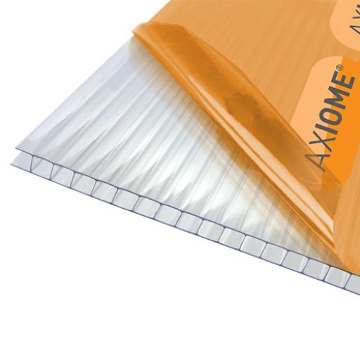 6mm Clear Axiome Twinwall Polycarbonate - Cut to Size - Sqm. Rate