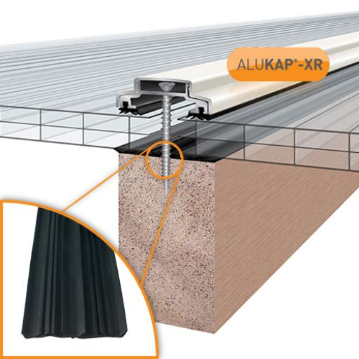 Alukap-XR 60mm Glazing Bars With 45mm Rafter Gasket
