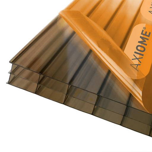 16mm Bronze Axiome Triplewall Polycarbonate