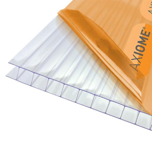 10mm Clear Axiome Twinwall Polycarbonate - Cut to Size - Sqm. Rate