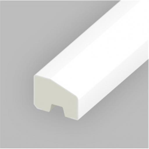 White PVC 20mm x 15mm Finishing Bead