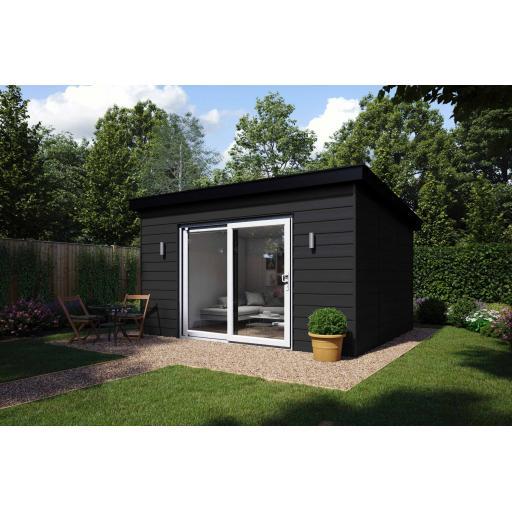 4.2m x 3.75m Garden Summer House - Patio Doors