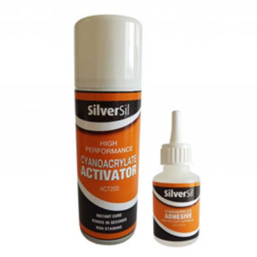 Superglue 50ml Activator Kit 200ml