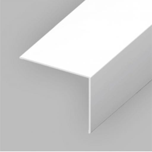 White PVC 25mm x 25mm Rigid Angle