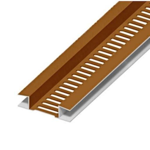Golden Oak Soffit Board Vent Strip