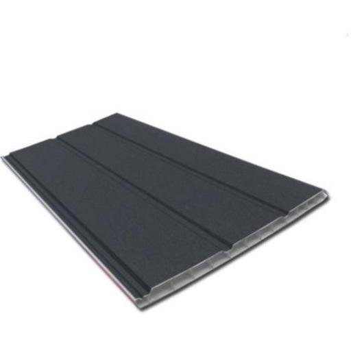 Anthracite Dark Grey 300mm Hollow Soffit Board