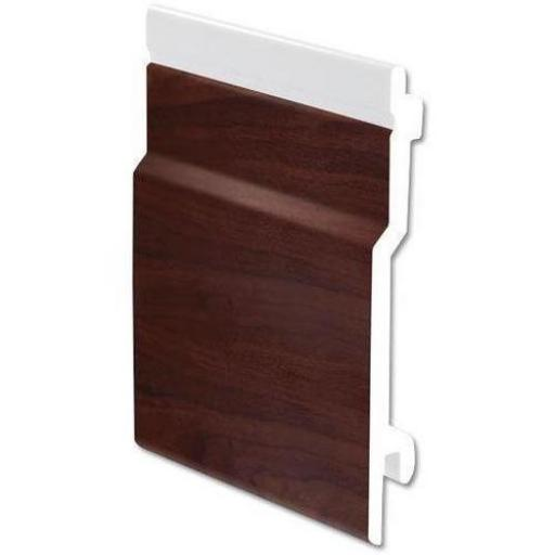 100mm External Open V Cladding Rosewood uPVC