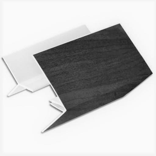 Anthracite Shiplap uPVC 2 Part External Corner Joint