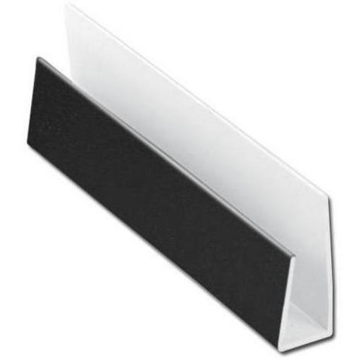 Black Soffit Board Starter Trim / J Trim 5mt