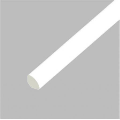 White PVC 17.5mm Quadrant