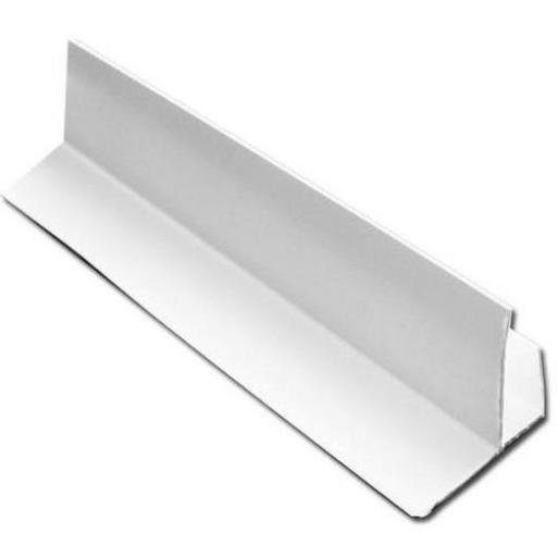 Soffit Board Starter Batten Trim / F Trim White 5mt