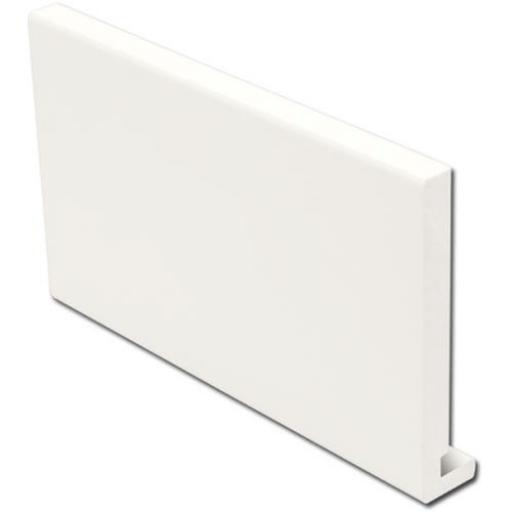 White Replacement Square Fascia Boards 18mm x 5mtr