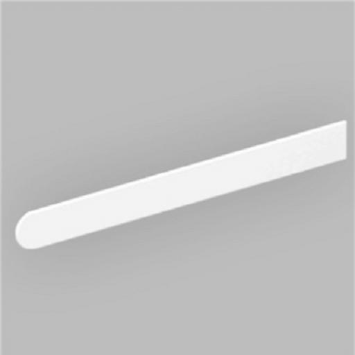 Long Bullnose / Square Edge White Window Sill End Caps