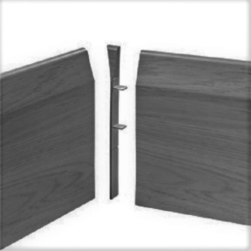 150mm Anthracite UPVC Skirting Internal Corner - Chamfered (4 Pack)