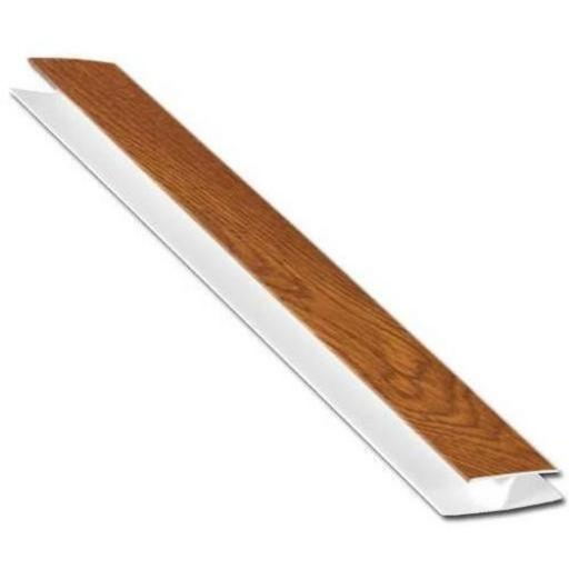 Golden Oak Soffit Board H Section 5mt