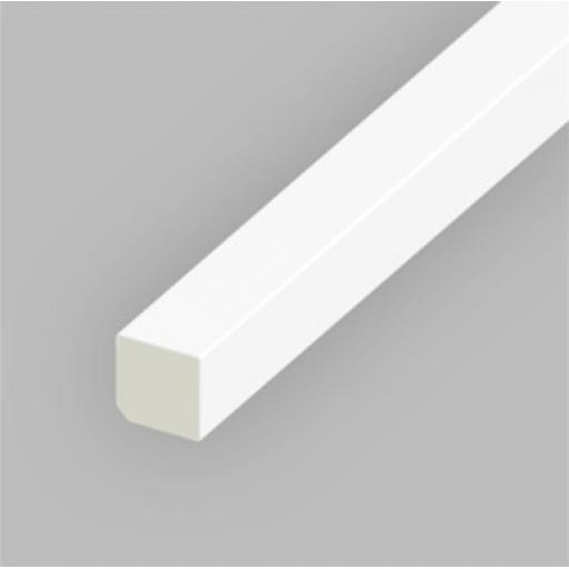 White PVC 20mm Rectangle Bead